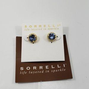 sorrelli stud earring in light sapphire